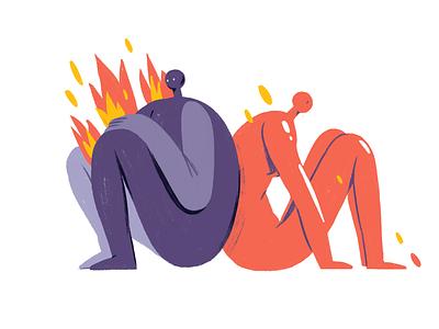 Modern love Pt. 2 dating character adobe photoshop editorial illustration illustration