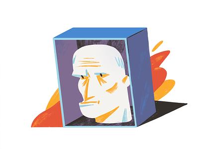 Violence against elderly people vol.2 character editorial editorial illustration illustration