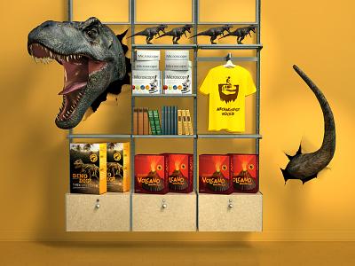 Dino Display c4d 3d dino t-rex jurassic park