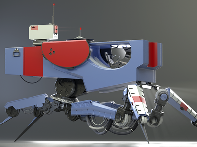 Spider Scout color subd rendering hard surface modeling
