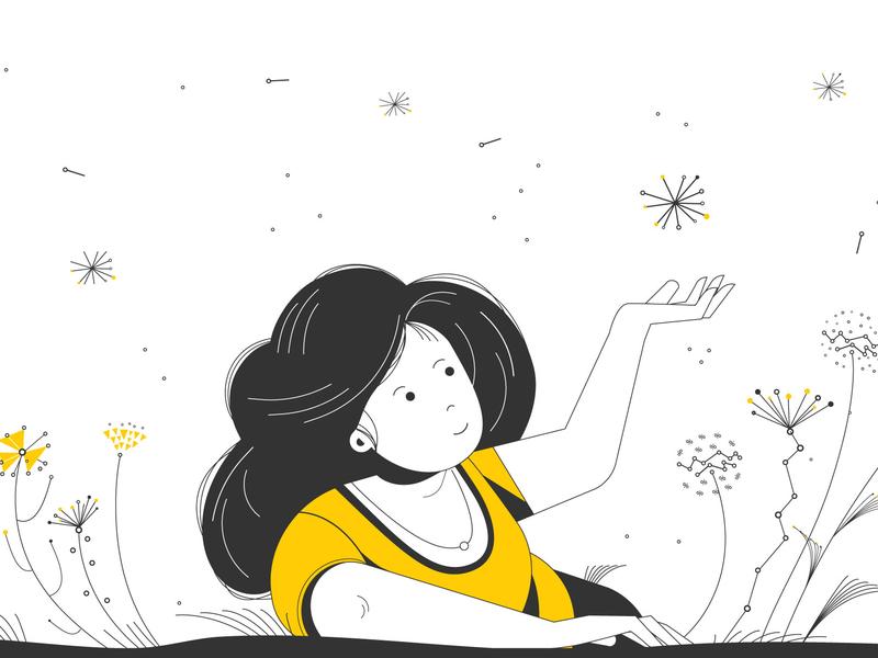 Flowers character design vector illustration