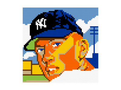 Mickey Mantle LEGO Portrait