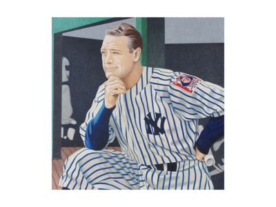 Lou Gehrig Illustration