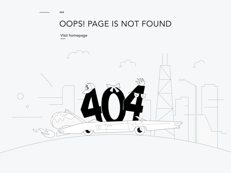 Mabbly 7.0 Illustration – 404 page cloud gate bean chicago marketing typography ux ui design branding vector illustration 404 error page 404