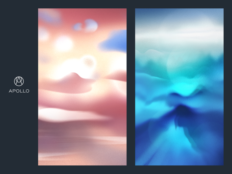 Apollo – Custom Illustration Backgrounds application app device hot blue sunset cloud design joy noise relaxation deep meditation abstract psychology background recovery accelerate energy increase