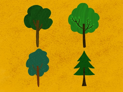 Four Trees textures textured painting drawing freehanddrawing freehand illustrator illustration draw adobe texture tree trees
