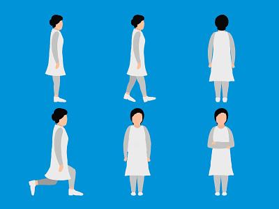 Female Doctor Illustration doctors flat character design flat character flat illustration doctor