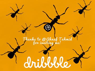 Thankshot to Ahnaf Tahmid dribbble invite dribbblethankshot thankshot