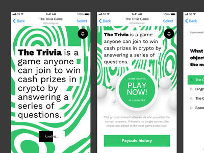 Trivia game for Telegram App. Works as a group in messenger. fun game user experience userinterface design ux ui mobile