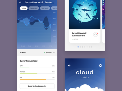 Cloud Management App android app user experience userinterface ux ui interaction mobile interface