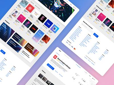 Web apps marketplace marketplace store app application design ux ui