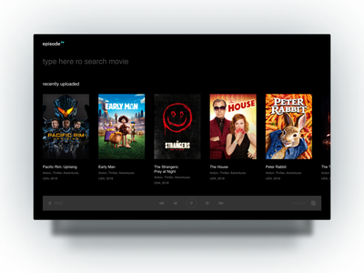 Video player video player video palyer tv app tv app application design ux ui