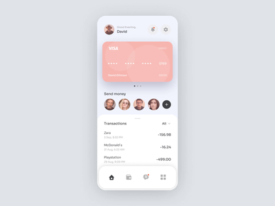 Banking app. Top up processing card animal dog finance fintech pay user flow processing transfer mobile app illustration banking finance app bank app gif typography animation app application