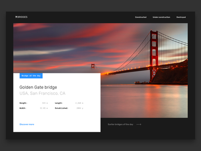 7 Bridges Landing Page web design website wallpaper photo typography branding logo bridge landing page landing ui ux