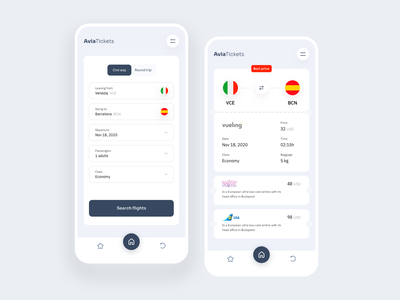 Avia Tickets Mobile App white airports planes ux design app planet spain italy android app ios app android ios ticket app ticket booking tickets ticket plane airplanes application
