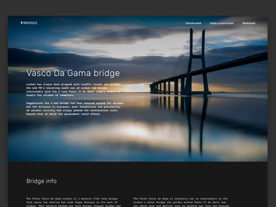 7 Bridges part.2 historic layout behance history like gif video animation web design website bridge landing page landing logo branding web typography design ui ux