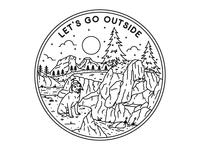Let S Go Outside  (B&W)