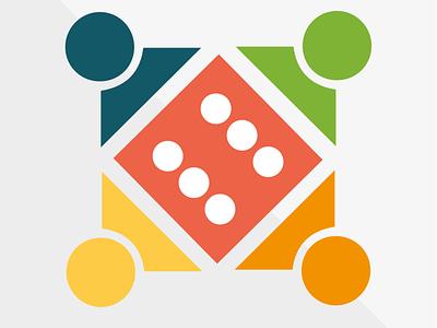 VILAJUGA. Logotipe. graphicdesign vector illustrator branding abstract logo design penedes colors board game playteam boardgames