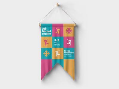 DIA DEL GRALLER. Branding and posters. angelspinyol penedes illustrator abstract vilafranca graphicdesign colors music art flag medievalage music graller gralla