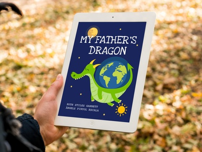 DRAGON. Digital Book. illustration colors digital illustration ebooks ebook layout ebook design uiux ui lecture kids abstract graphicdesign logo illustrator dragon book ebook cover digital ebook
