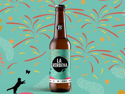 La Verbena - BeerCat CraftBeer pinyol angels disculpi vilafranca pendes enjoyyourbeer lovecats cat dribblebeer cervesa cerveza craftbeer colorful artwork abstract santjoan nit verbena barcelona