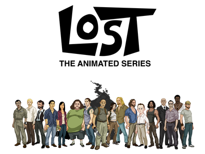 LOST: The Animated Series Coloring Book illustration charicature fan art tv