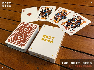 The Red Back 8Bit Deck kickstarter pixel art 8bit design art playing cards
