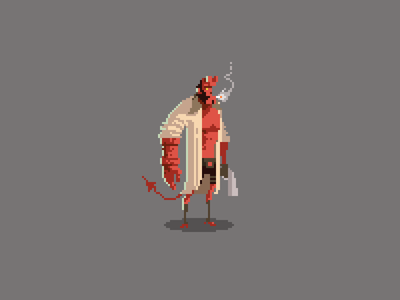 Pixel Hellboy
