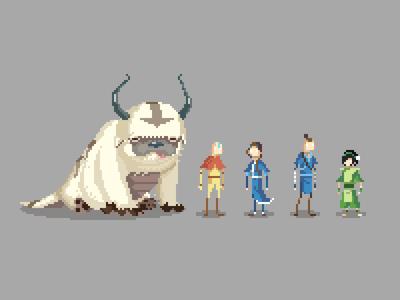 Pixel Avatar Cast