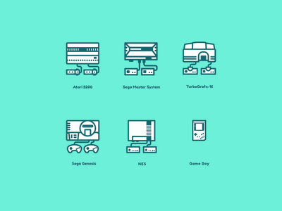 Iconsoles - Now including Gameboy! figma illustration gaming nintendo retro video games icons games