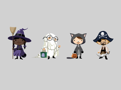 Trick or Treat game characters