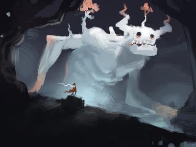 Forest God speedpainting speedpaint creature character concept art