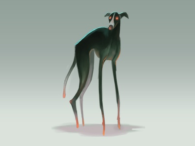 Demon Dog speedpaint demon dog concept art speedpaint digital painting digital art