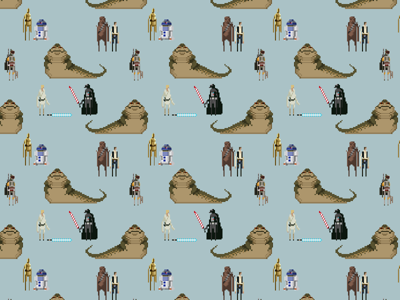 Star Wars pixel art tiling pattern pattern tiling star wars pixel art