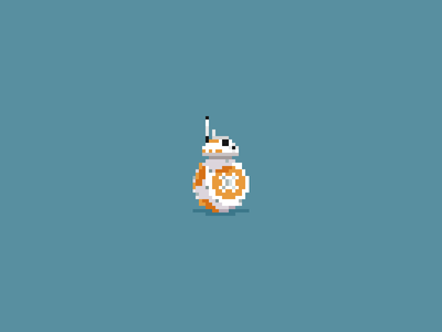 BB-8 droid bb-8 force awakens star wars starwars pixel art