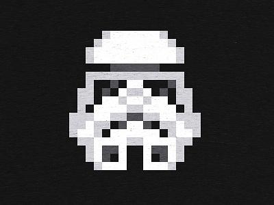 Pixeltrooper tee at Cotton Bureau starwars stormtrooper storm trooper pixel art cotton bureau cottonbureau
