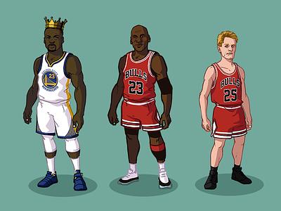 NBA Players for Bleacher Report bulls steve kerr draymond green michael jordan basketball nba