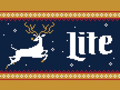 Knitted Koozie design for Miller Lite
