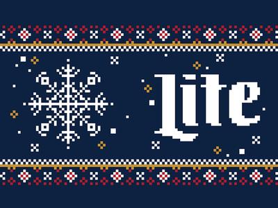 Knitted Koozie design for Miller Lite #2