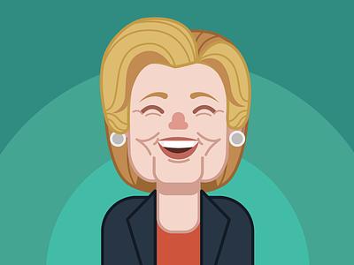 Hillary Clinton illustration caricature election 2016 hillary