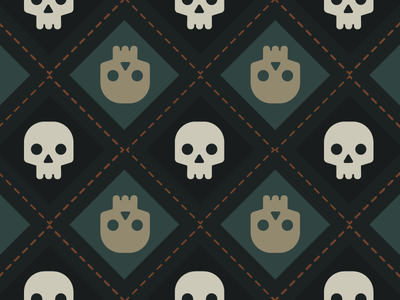 Tiling Skull Pattern (Free to use!)