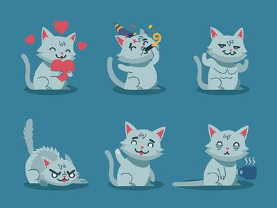 Cosmo the Cat - Kik sticker pack cats sticker pack messenger kik