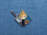 Cloud lapel pin