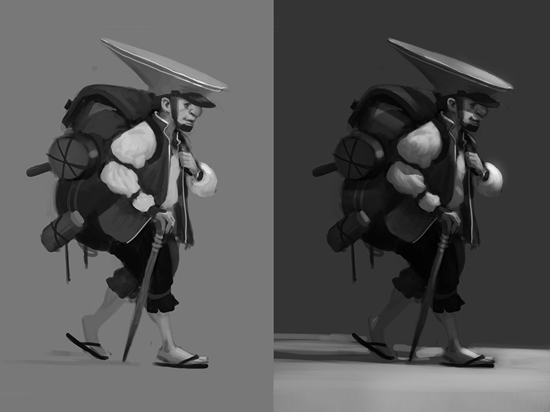 Character/value study digital painting character design concept art