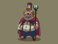 Wise old man character design