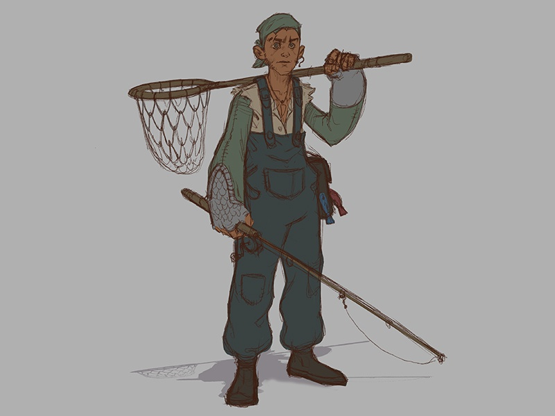 The Angler's Apprentice character design concept art character design