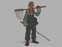 The Angler's Apprentice character design