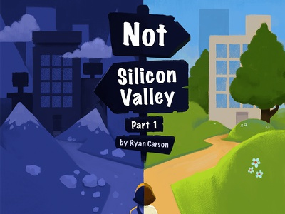 Not Silicon Valley spot illustration illustration silicon valley treehouse