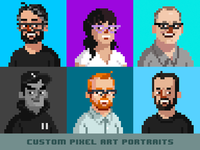 Custom Pixel Art Portrait Commissions - Open!