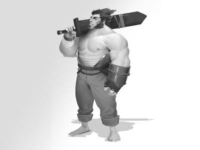 Barbarian illustration concept art character design